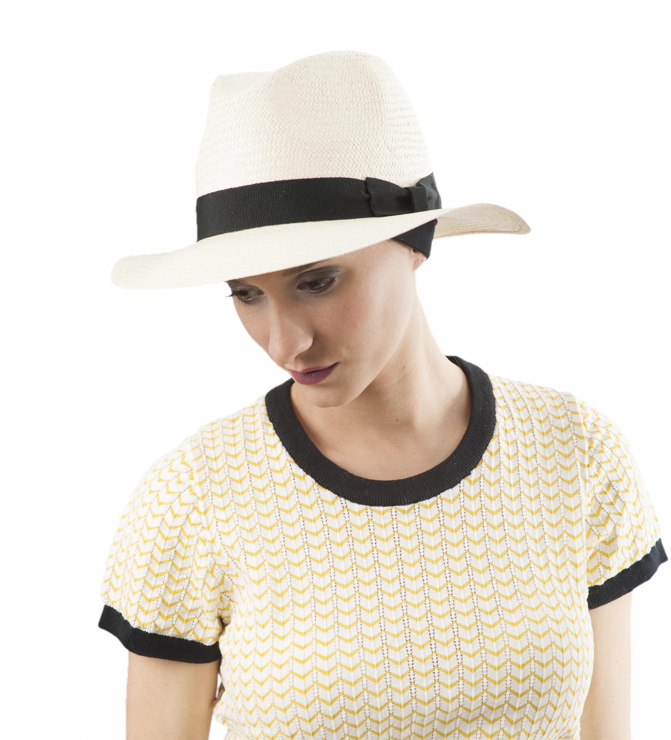 Chapeau d'été en fibres végétales modèle Panama MM PARIS