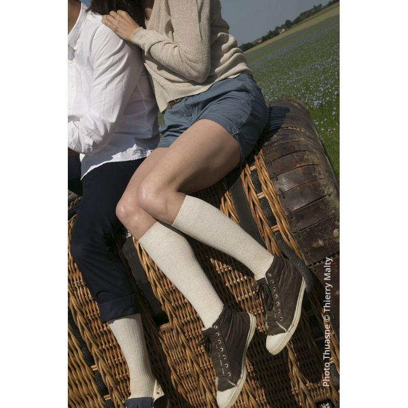Chaussette de contention femme classe 2 venoflex fast lin THUASNE