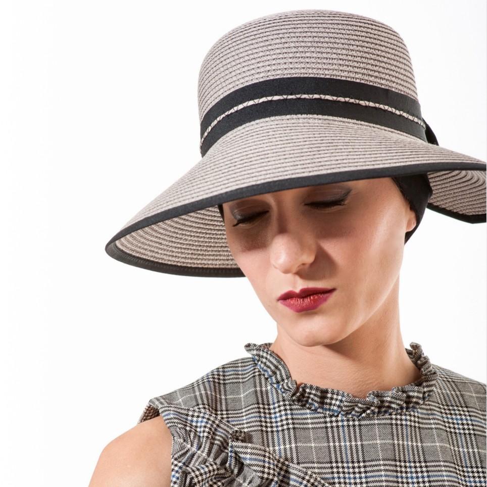 Chapeau d'été en papier modèle Morgane MM PARIS