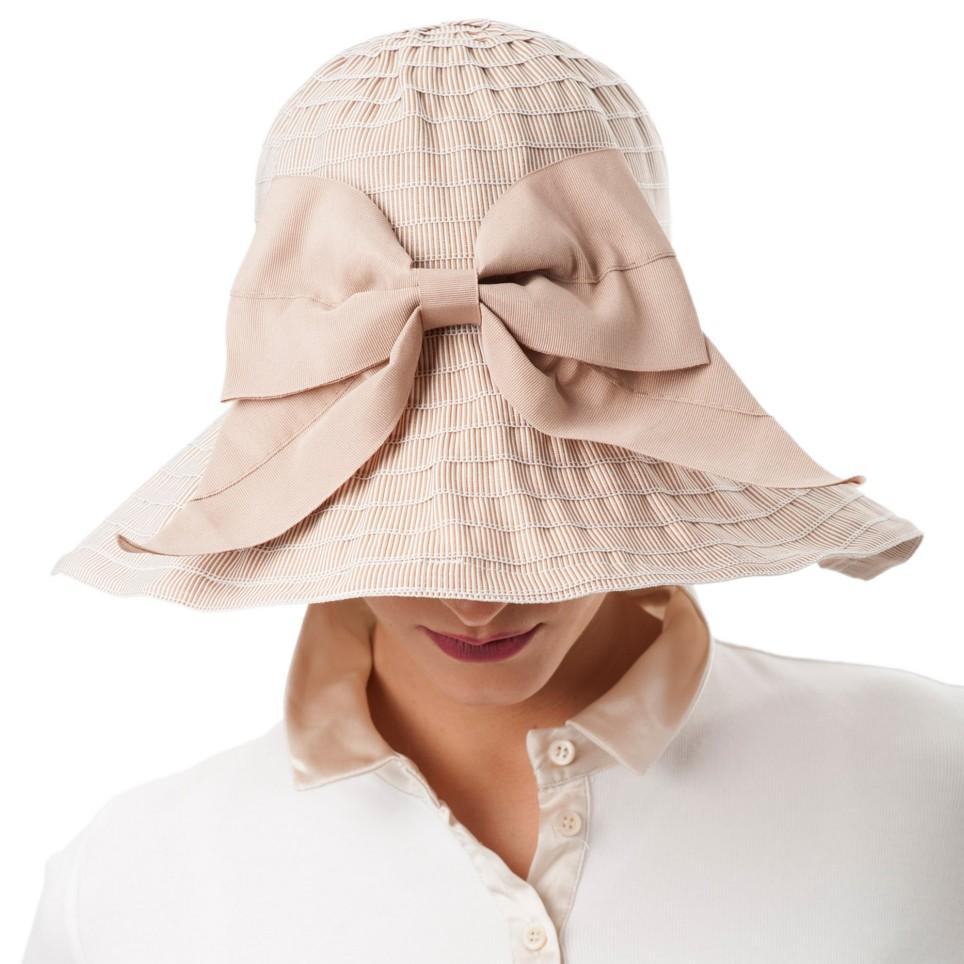 Chapeau d'été en polyester modèle Sylvia MM PARIS